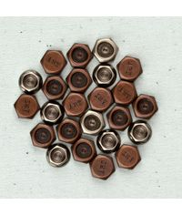 Hexagons 18/Pkg - Junkyard Findings Metal Trinkets