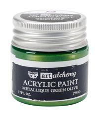 Metallique Green Olive - Alchemy Acrylic Paint