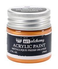 Metallique Fresh Orange - Alchemy Acrylic Paint