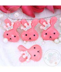 Crown Bunny - Bright Pink