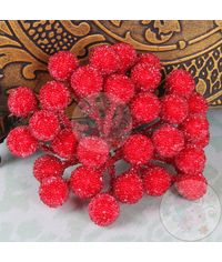 Crystal Beaded Single Pollens - Red
