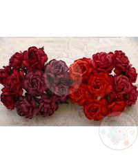 Curved Roses Combo - Red