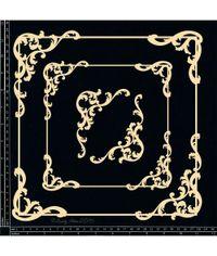 Baroque Frame Set - Square - Chipboard Cutouts
