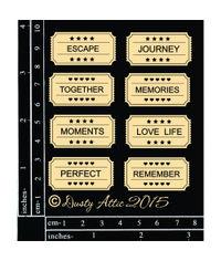 Tickets - Chipboard Cutouts