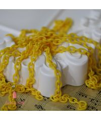 Acrylic Chain - Bright Yellow