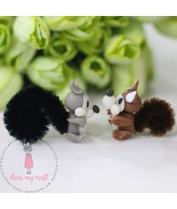 Miniature Figure Squirrel With Tail