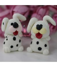 Miniature Figure Dog - White