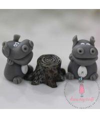 Miniature Figure Hippo