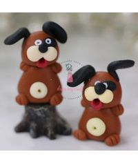 Miniature Figure Dog - Brown
