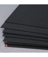 Smooth Black Cardstock - 300 GSM