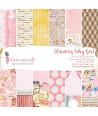 "Charming Baby Girl - 12"" X 12"" Paper Pad"