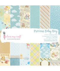 """Precious Baby Boy  -6"""" x 6"""" Paper Pad"""
