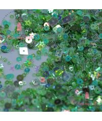 Blossom With Green Sequins