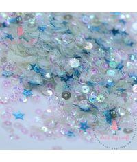 Crystal Blue Sequins