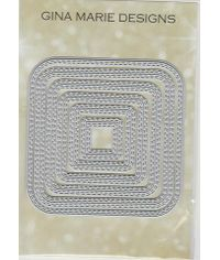 Double Stitched in and out Cut Round Square  - Die