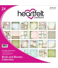 "Birds and Blooms 12""X12"" Paper Pad 24/Pkg"
