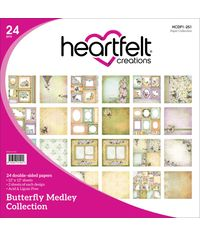 """Butterfly Medley Double-Sided Paper Pad 12""""X12"""" 24/Pkg"""