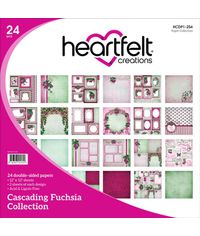 "Cascading Fuchsia 12""X12"" Paper Pad 24/Pkg"