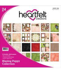 "Blazing Poppy 12""X12"" Paper Pad 24/Pkg"