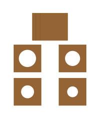 "Kraft - Layered Circles Card 6"" x 6"""