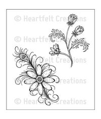 Feathered Daisy - Stamp