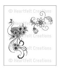 Peacock Swirls - Stamp
