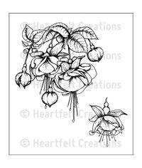 Fuchsia Bouquet - Stamp