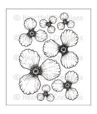 Blazing Poppy Petals - Stamp