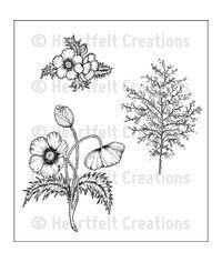 Blazing Poppy Fillers - Stamp