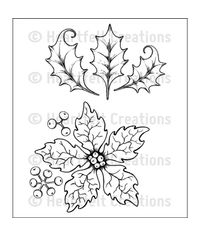 Large Sparkling Poinsettia - Stamp