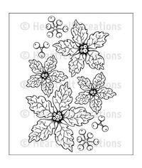 Sparkling Poinsettia - Stamp