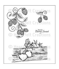 Berries and Peaches Cling Stamp Set
