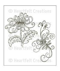 Enchanted Mum Bouquet Cling Stamp Set