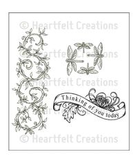 Enchanted Dragonflies Cling Stamp Set