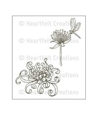 Enchanted Mum Clusters Cling Stamp Set