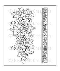 Italian Grape Borders - Stamp