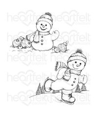 Frolicking Frosty Cling  - Stamp