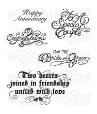 Classic Wedding Wishes - Stamp