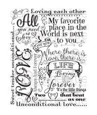 Forever Love Background - Stamp