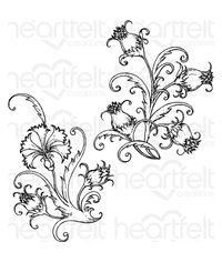 Fanciful Carnation - Stamp