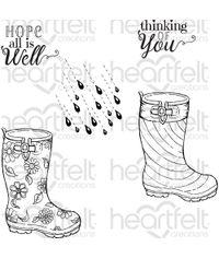 Raindrop Sentiments - Stamp