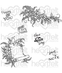 Sweet Lilac Scroll & Notes - Stamp