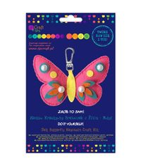 FELT BUTTERFLY KEYCHAIN CRAFT KIT