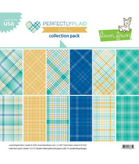 Perfectly Plaid Chill Collection - Paper Pack 12 x 12