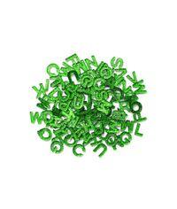 "Green  - Alphabits Glitter Alphabet .5"""