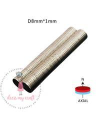Neodymium Super Strong Magnets - 8 MM X 1 MM