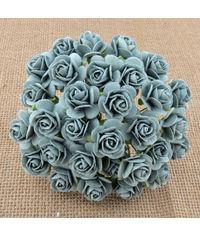 Micro Roses - Pale Denim