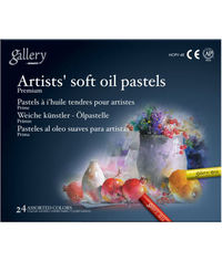 ARTISTS' SOFT OIL PASTELS-24 ASSORTED COLORS