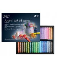 ARTISTS' SOFT OIL PASTELS - 36 ASSORTED COLORS