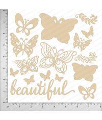 Beautiful Butterflies - Chipboard Cutouts